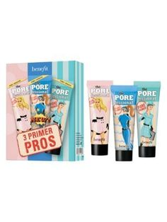 BENEFIT COSMETICS Mini 3 Primer Pros Face Primer Value Set - $39 Value. #benefitcosmetics Benefit Cosmetics, Value Set, Face Primer, Mini