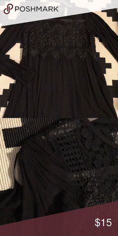 Baby Doll Open Sleeves Dress Never worn; just hung in my closet.  It's super cute and light for this summer! It's the best of both worlds in that the long sleeves are sliced open so you feel the comfort of a sleeveless dress yet the long sleeves drape for a little bit of coverage.  This is a thin rayon like material. Xhilaration Dresses