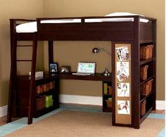 Wish college dorm lofted beds were like this, this way better than what I have to deal with.