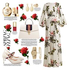 """""""#SpringDresses"""" by sewingmachine ❤ liked on Polyvore featuring Gucci, Andrew Gn, Versace, Laundry by Shelli Segal, Yves Saint Laurent, Luv Aj, Diana M., Dolce&Gabbana, polyvorestyle and springdresses"""