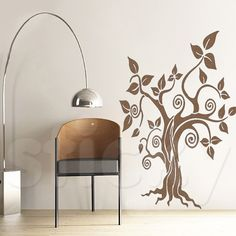 Wall Sticker by Sticky! Decor, Home Decor Decals, Lamp, Wall Sticker, Floral Stickers, Wall, Home Decor