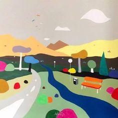 "Saatchi Art Artist Alejos Lorenzo Vergara; Painting, ""The park. (El parque)"" // sharp and eye catching!"