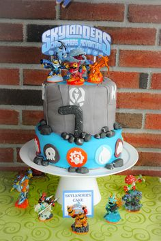 Awesome Skylanders cake at a video game party! See more party ideas at CatchMyParty.com! #partyideas #videogame