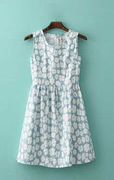 23 Beautiful summer dress with daisies