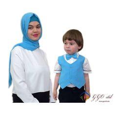 Anne Oğul Kombin- Anne Şal-Mavi