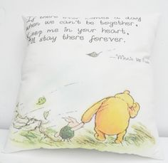 Abel is obsessed with Pooh, and this is so sweet <3.  classic winnie the pooh illustrations