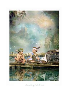 Fairy Art Print   ' The Land of Make Believe '. $32.00, via Etsy.