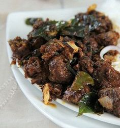 Kerala Style Mutton Chilli Fry Recipe with step by step.Mutton Chilli Fry very spicy and tasty try it in your home. Indian Chicken Recipes, Veg Recipes, Curry Recipes, Indian Food Recipes, Asian Recipes, Cooking Recipes, Kerala Recipes, Indian Mutton Recipes, Andhra Recipes