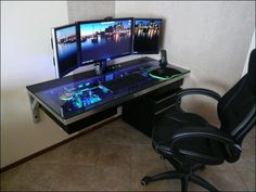 Gaming Computer Desk: Pic The Best One lovely pc gaming desk setup best ideas about gaming computer desk on DJSUWAM Gaming Computer Desk, Computer Build, Gaming Desktop, Computer Built Into Desk, Gaming Setup, Custom Computer Desk, Laptop Desk, Desktop Computers, Bureau Design