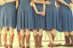 They probably DID wear these dresses and boots again!
