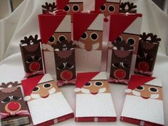 Santa and Rudolph Candy Holder - bjl