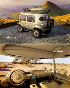 Modern Hippie Bus 3 Clearly inspired by the VW bus, a new electric car concept brings this classic into a new era with power generating capabilities, panoramic windows and extra safety features for the modern wanderer's lifestyle. Volkswagen Bus, Microcar, Vw Minibus, Modern Day Hippie, Modern Gypsy, Electric Car Concept, Electric Cars, Vw Camping, Glamping