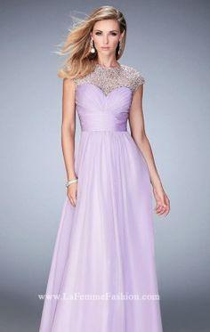 Beaded Chiffon Gown by Gigi by La Femme 22890