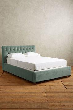 I want this bed! - Velvet Tufted Lena Bed - anthropologie.com