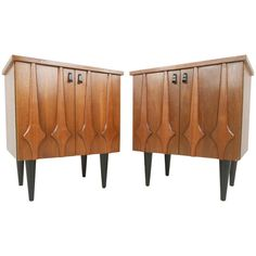 Stylish Mid-Century Modern Nightstands | From a unique collection of antique and modern night stands at http://www.1stdibs.com/furniture/tables/night-stands/