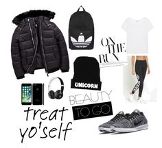 """Treat yo' self"" by bad-wolf-18 on Polyvore featuring adidas Originals, Splendid, NIKE, Topshop and Beats by Dr. Dre"