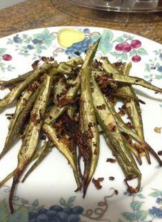 Quando um ingrediente pouco amado se torna um must: Quiabos assados Lchf, Soul Food, Asparagus, Green Beans, Low Carb, Homemade, Snacks, Recipes, Dieta Paleo