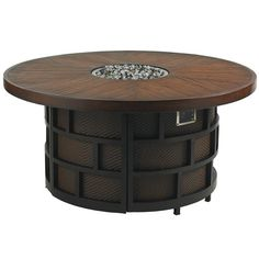 Because we'll need something to keep us cozy as we celebrate into the night!  ~Ocean Club Resort 54-Inch Round 3-Level Gas Fire Pit with Weatherstone Top by Tommy Bahama Outdoor Living - Baer's Furniture - Outdoor Fire Pits Miami, Ft. Lauderdale, Orlando, Sarasota, Naples, Ft. Myers, Florida