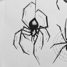DISPO POUR TATTOO #spirartgraphique #artnblinetattoo #plaisancedutouch #flashtattoo #dotwork #spider #dark #nightmare