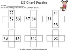 1.NBT.4 120 Chart Practice Activities {Freebie}
