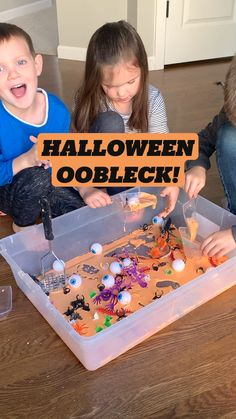 Educational Activities For Toddlers, Fall Preschool Activities, Halloween Activities, Sensory Activities, Preschool Crafts, Halloween Crafts For Toddlers, Halloween Fun, Sensory Bins, Sensory Play