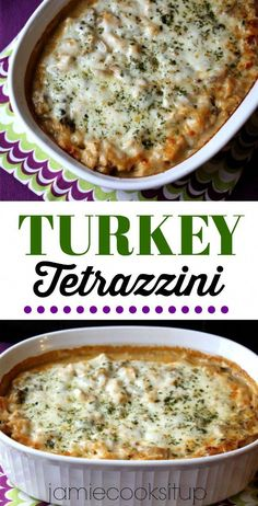 Turkey Tetrazzini from Jamie Cooks It Up! A great way to use up those Thanksgiving Leftovers! Turkey Tetrazzini from Jamie Cooks It Up! A great way to use up those Thanksgiving Leftovers! Easy Leftover Turkey Recipes, Cooked Turkey Recipes, Leftovers Recipes, Ground Turkey Recipes, Cooking Turkey, Cooking Recipes, Dinner Recipes, Leftover Turkey Casserole, Ground Turkey Casserole