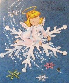 Vintage Angel Christmas Card
