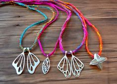 Handmade sterling silver Butterfly and Cicada jewellery from Studio Swoon.