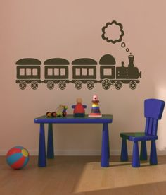 Housewares Vinyl Decal Cute Train Locomotive Home Wall Art Decor Removable Stylish Sticker Mural Unique Design for Room Boy Nursery Garage Decal House http://www.amazon.com/dp/B00EV1NRYU/ref=cm_sw_r_pi_dp_8ONUtb0ZN4ER00YS