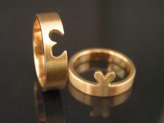 Hjerte vielsesringe  A true hearts matching in the weddingrings