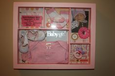 Everything Mommyhood: Baby Shadow Box & Baby Welcome Sign