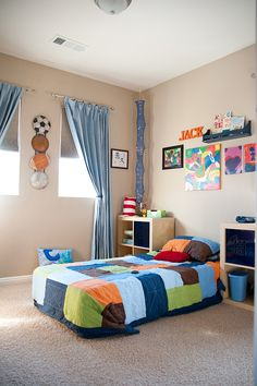 Boys Room; simple and to the point...LOVE IT!
