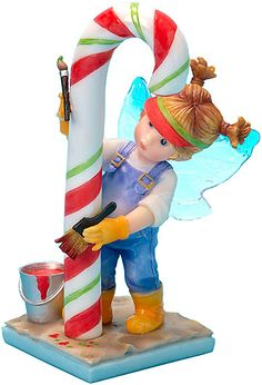 My Little Kitchen Fairies is an adorable line of mischievous fairies. Bright colors and whimsical poses make the pieces in this collection ideal for display in your kitchen, and make wonderful heart-warming gifts. A creation of acclaimed gift ware artist G.G. Santiago.