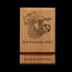 Sloth - Just Hanging Out Personalised Gifts Australia, Personalized Gifts, Tablet Holder, Phone Holder, Stocking Stuffers For Teenagers, Sloths, Cutest Animals, Ipad Tablet, Laser Engraving