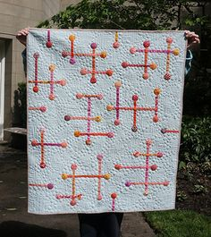 Sticks and Stones quilt by Rachel