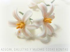 Azúcar galletas y muchas cosas bonitas: Tutorial de flores de pasta de goma sin cortador                                                                                                                                                     Más