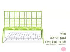 DOT's Wire Bench Pad Loveseat Mesh