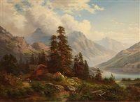 Mountainous landscape by Georg Engelhardt