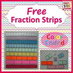 Free Fraction Strips: Use these reproducible fraction strips to help your students to conceptualize the value of each proper fraction in relation to the whole. Suggested activities are included. Also, copies can be laminated and cut into fraction tiles which make great manipulatives for structured group activities.