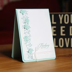Bordering Blooms and Wetlands stamp sets Stampin Up UK Demonstrator Zoe Tant blog: Simple elegance