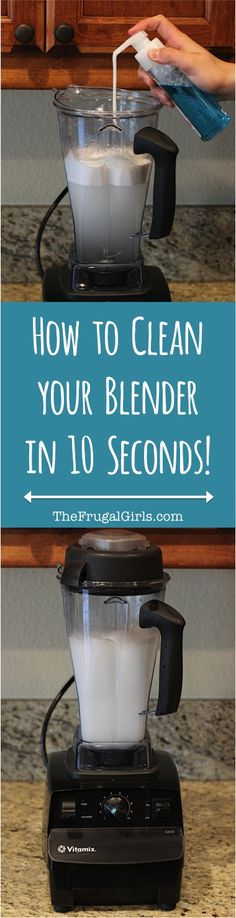 Best Way to Clean a Blender! This simple little trick works like a charm! | TheFrugalGirls.com