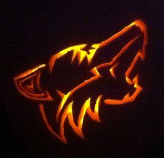#Halloween is just around the corner, don't forget to carve your #pumpkin. Here's a great #Coyotes themed jack-o-lantern!