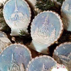 Snow globe,  snow globe cookies,  gingerbread cookies,  decorated cookies,  keepsake cookie gift,  snow scenery,  church cookies