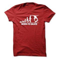 Skateboarder Born To Skate T Shirts, Hoodies. Get it here ==► https://www.sunfrog.com/Sports/Skateboarder--Born-To-Skate-Red.html?41382