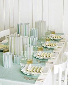 3-D pleated vellum tablescape. Get the how-tos at marthastewartwedd...