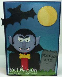 Halloween card..punch art Dracula...pretty scary...lovely card...