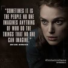 The Imitation Game - based on the life of Alan Turing, the author of 'Computing Machinery and Intelligence' (Movie) Famous Film Quotes, Movie Quotes, Book Quotes, Life Quotes, Great Quotes, Quotes To Live By, Inspirational Quotes, Motivational Quotes, Quotable Quotes