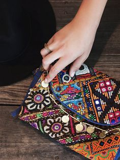 Free People Embellished Travel Case at Free People Clothing Boutique #boho #bohemian #accessories