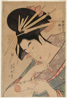 Ichirakutei Eisui Title:Segawa of the Matsubaya, from an untitled series of large heads of courtesans Date:1796-98