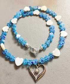 Blue Heart Valentine by MystycJewels on Etsy